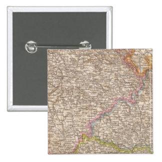 Bohmen, Mahren Atlas Map 15 Cm Square Badge