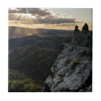 Böhmische Schweiz scenic view photo Tile