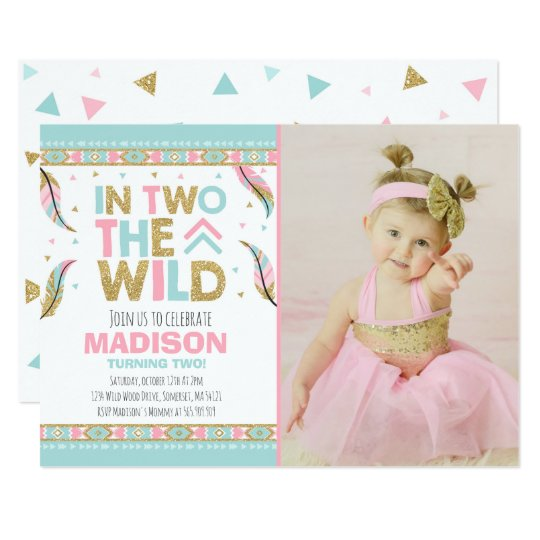 Boho 2nd Birthday Invitation In Two The Wild