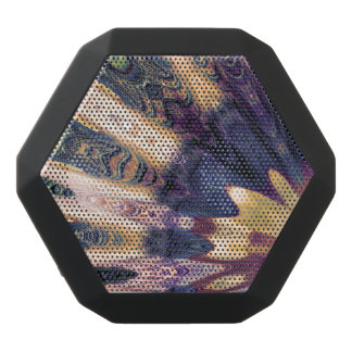 Boho Abstract Black Bluetooth Speaker