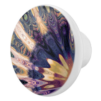 Boho Abstract Ceramic Knob