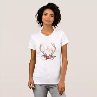 Boho Antler Mrs. Shirt