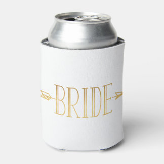Boho Arrow Bride Can Cooler