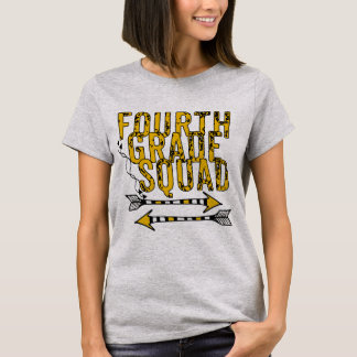 Boho Arrows 4th Grade Squad Personalized T-shirt