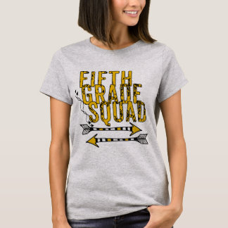 Boho Arrows 5th Grade Squad Personalized T-shirt