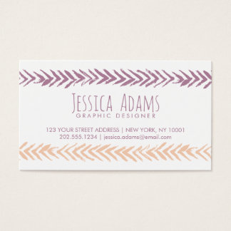 Boho Arrows Business Card