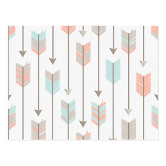 Boho Arrows Pattern Postcard