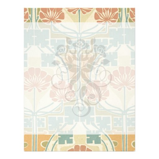 boho art deco vintage art flower pattern flyer design