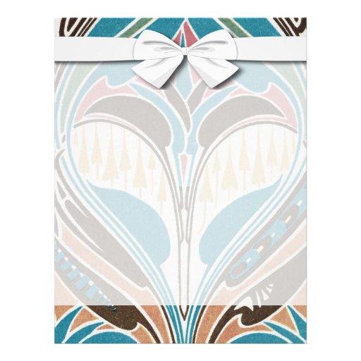 boho art nouveau chic abstract design 21.5 cm x 28 cm flyer
