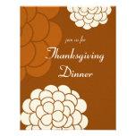 Boho Autumn Flowers Thanksgiving Dinner Invitation