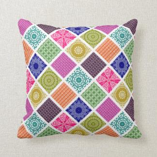 Boho Bazaar Mosaic Patchwork Cushion