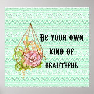 Boho Be Beautiful Poster