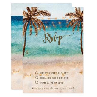 boho beach sand wedding bridal shower rsvp card