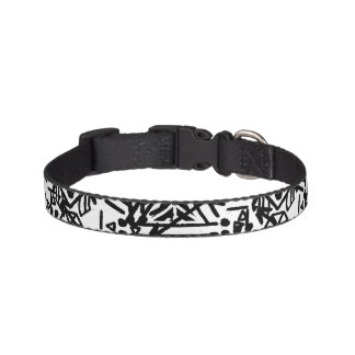 Boho Black and White | Dog Collar