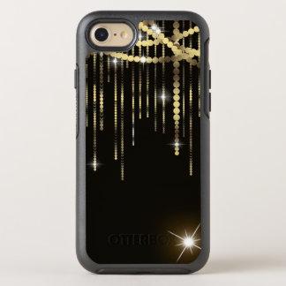 Boho Black Gold Belly Dancer Sash Bohemian Beads OtterBox Symmetry iPhone 8/7 Case
