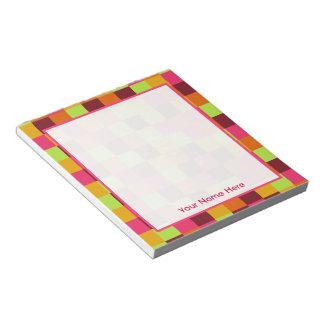 Boho Blocks Personalized Notepad