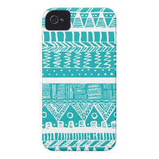Boho Blue Aztec Case-Mate iPhone 4 Case