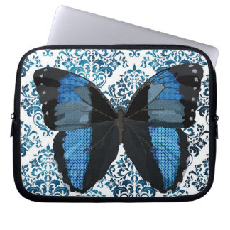 Boho Blue  Butterfly Computer Sleeve