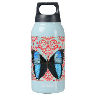 Boho Blue Butterfly Liberty Bottle 10 Oz Insulated SIGG Thermos Water Bottle