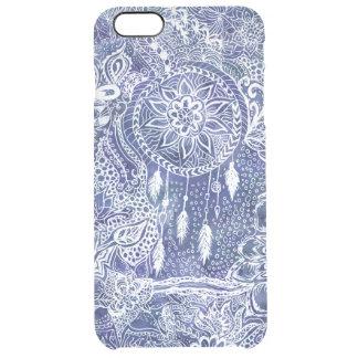Boho blue dreamcatcher feathers floral doodles iPhone 6 plus case