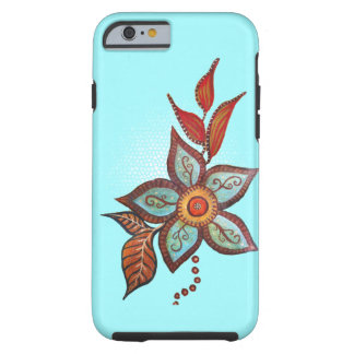 Boho Blue Tough iPhone 6 Case