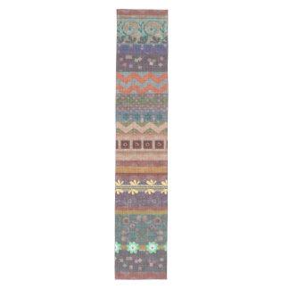 Boho Bohemian Retro Colorful Pattern Medium Table Runner