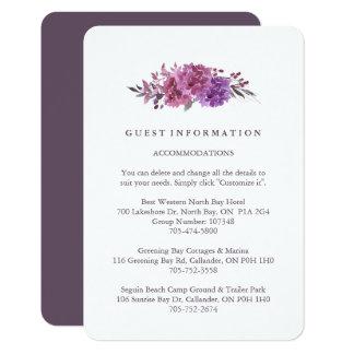 Boho Botanicals Guest Information Cards