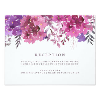 Boho Botanicals Reception Card