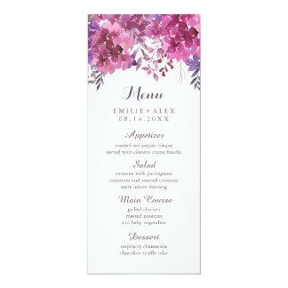 Boho Botanicals Wedding Menu 10 Cm X 24 Cm Invitation Card
