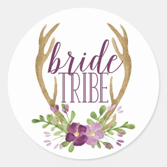 Boho Bride Tribe Stickers