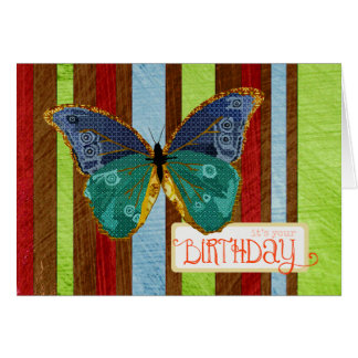 Boho Butterfly Birthday Card