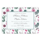Boho Cactus, Succulent & Floral - Wedding Card