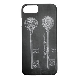 boho Chalkboard Victorian steampunk skeleton keys iPhone 8/7 Case