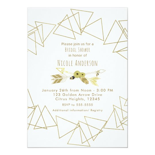 Boho Chic Arrows & Gold Geometric Triangles Modern