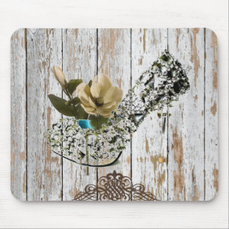 boho chic barn wood rustic country wedding mouse mat