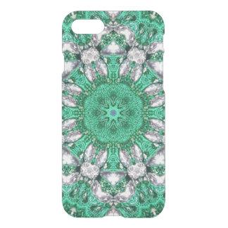 boho chic bohemian pattern emerald green iPhone 8/7 case