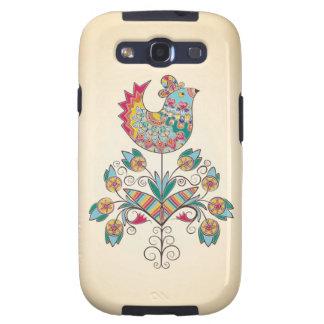 Boho-chic chick on flower galaxy s3 case