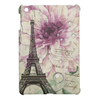 Boho Chic floral Vintage Paris Eiffel Tower iPad Mini Covers