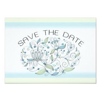 BOHO Chic Garden Wedding Save the Date Photo 11 Cm X 16 Cm Invitation Card