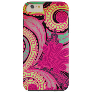 Boho Chic Hipster Floral Paisley Tough iPhone 6 Plus Case