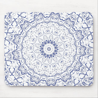 Boho Chic Lace Look Mouse Pad