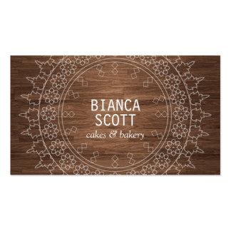 Boho Chic Mandala on Dark Wood Pack Of Standard Business Cards