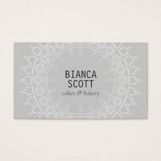 Boho Chic Mandala on Light Gray Business Card