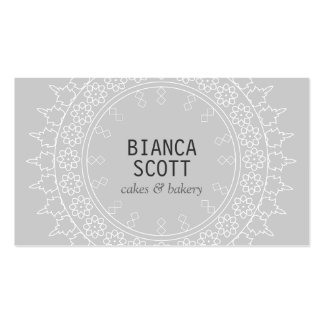Boho Chic Mandala on Light Gray Pack Of Standard Business Cards