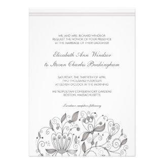 BOHO Chic Monochromatic Taupe Garden Wedding Personalized Invitation