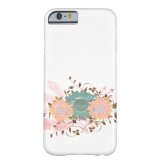 Boho Chic Pastel Sunflower Vine Barely There iPhone 6 Case