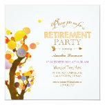 Boho Chic Retirement Celebration 13 Cm X 13 Cm Square Invitation Card