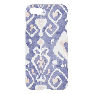 Boho chic rustic blue ikat tribal pattern iPhone 7 case