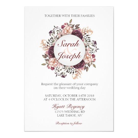Boho Chic Wedding Invitation