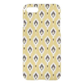 Boho chic yellow ikat tribal pattern monogram iPhone 7 case